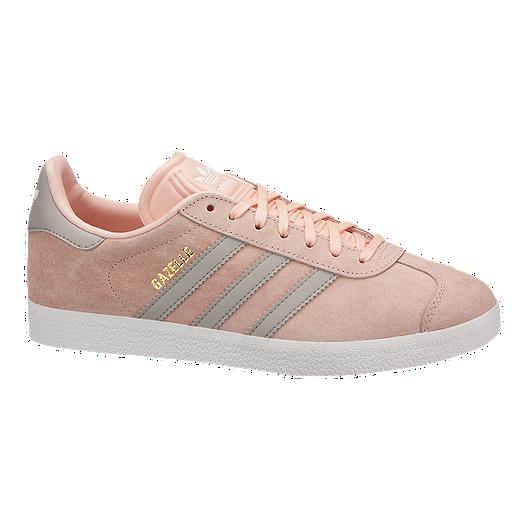 brand new 30953 babca adidas Womens Gazelle Shoes - PinkGreyWhite  Sport Chek