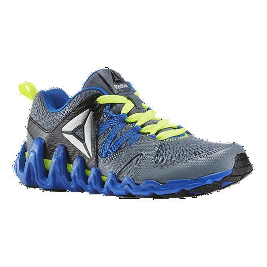 6cfe6d82dc01 Reebok Kids  Zig Big N  Fast Fire Grade School Training Shoes -  Grey Blue Yellow