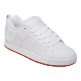 DC Men's Court Graffik Skate Shoes - White/White