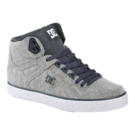 DC Men's Spartan WC TX SE High-Top Skate Shoes - Grey Heather