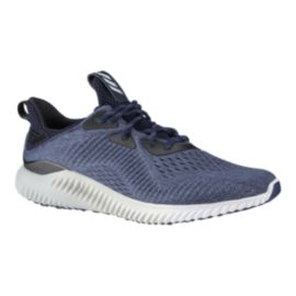adidas Men's AlphaBounce EM Running Shoes - Knit Blue/White