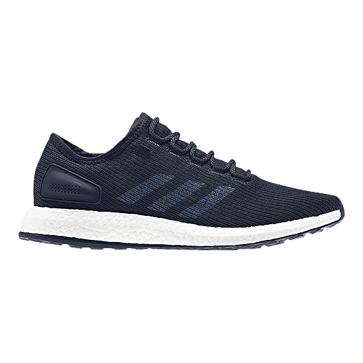 30c9a90e598af adidas Men s Pure Boost Running Shoes - Knit Navy Blue