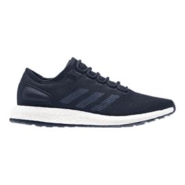 adidas Men's Pure Boost Running Shoes - Knit Navy Blue