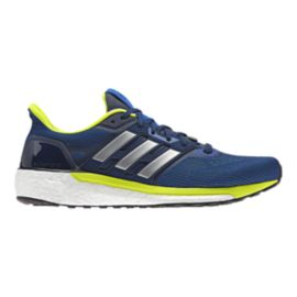 adidas Men's Supernova Running Shoes - Blue/Lime Green