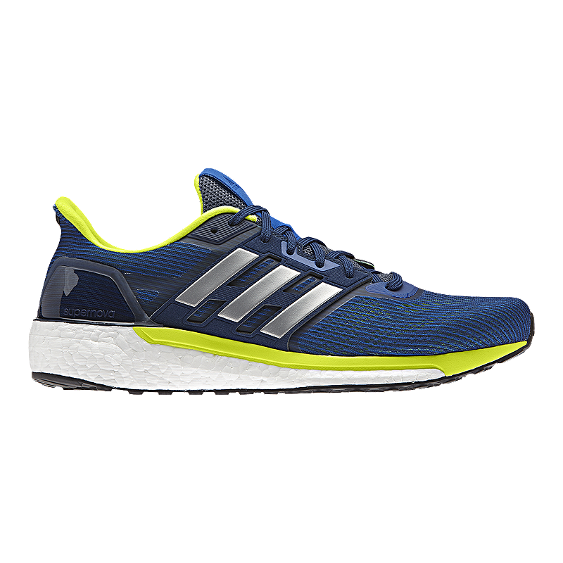 adidas Men's Supernova Running Shoes - Blue/Lime Green