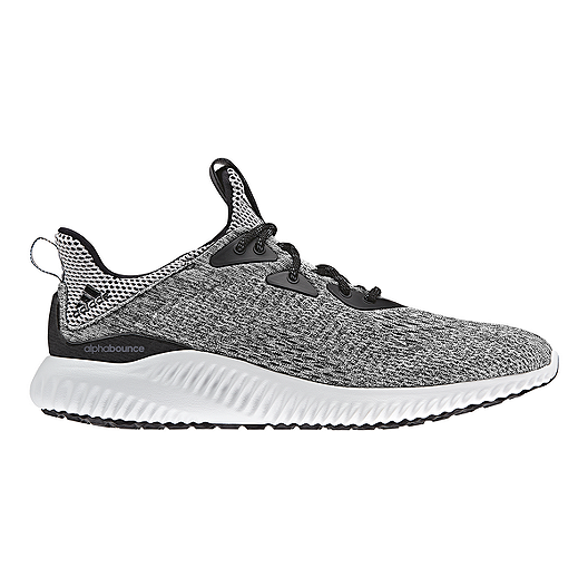 ae68b2179 adidas Men s AlphaBounce EM Running Shoes - Knit Black Grey White ...