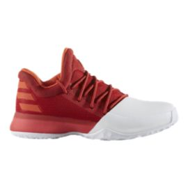 "adidas Kids' Harden Vol.1 ""Home"" Grade School Basketball Shoes - White/Scarlett"