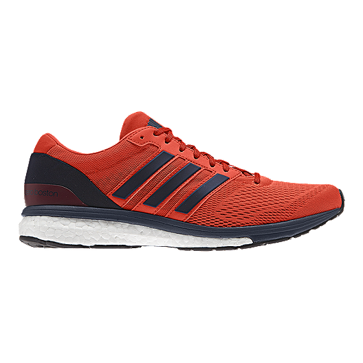 60e838927466a4 adidas Men s Adizero Boston 6 Running Shoes - Orange Navy Blue ...