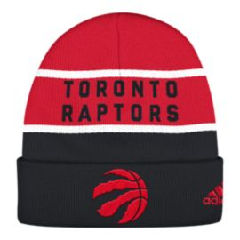 Toronto Raptors Striped Cuffed Toque