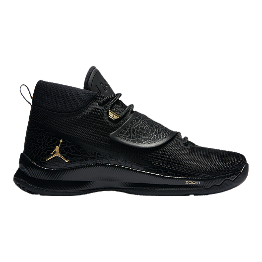7294a749cab8 Nike Men s Jordan Super.Fly 5 PO Basketball Shoes - Black Gold ...