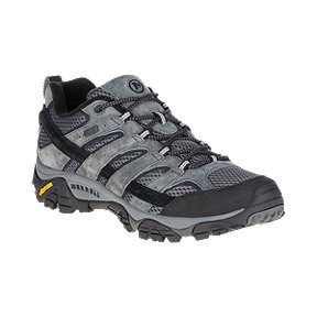 Merrell Men's Moab 2 Waterproof Wide Hiking Shoes - Granite