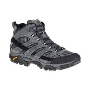 Merrell Men's Moab 2 Mid Waterproof Hiking Boots - Granite
