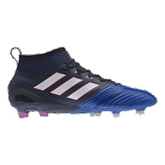 3d7e28d88484a adidas Men's Ace 17.1 PrimeKnit FG Outdoor Soccer Cleats - Blue/Black