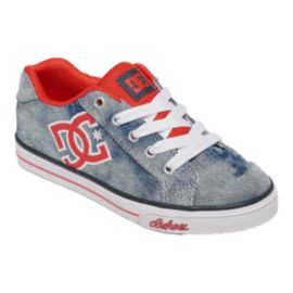DC Girls' Chelsea TX SE Preschool Skate Shoes - Grey/Red