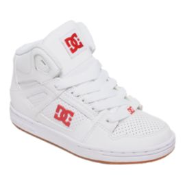 DC Girls' Rebound Preschool Skate Shoes - White/Red