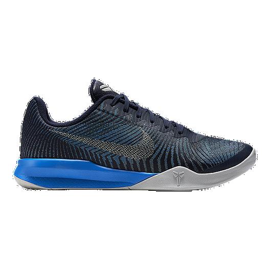 0058329e1fa Nike Men s KB Mentality II Basketball Shoes - Black Blue Silver ...