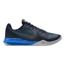 Nike Men's KB Mentality II Basketball Shoes - Black/Blue/Silver