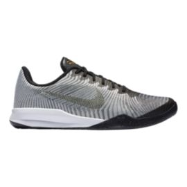 Nike Men's KB Mentality II Basketball Shoes - Silver/Black/Gold