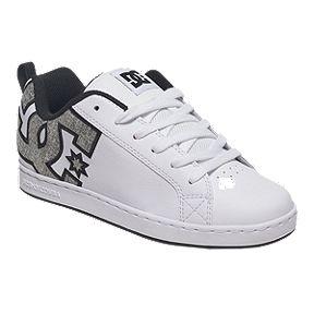 Dc Women S Court Graffik Se Skate Shoes White Silver