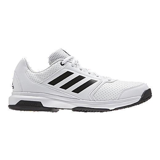 info for 6a822 930c9 adidas Men s Adizero Attack Tennis Shoes - White Black   Sport Chek