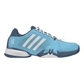 sports shoes a97dc e7017 adidas Mens Novak Pro Tennis Shoes - BlueWhite