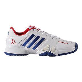 newest b9679 24561 adidas Mens Novak Pro Tennis Shoes - WhiteBlueRed