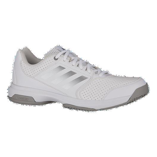 adidas Women s Adizero Attack Tennis Shoes - White Silver  14c2e96bc