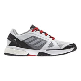 adidas Women's SMC Barricade Boost Tennis Shoes - White/Black/Red