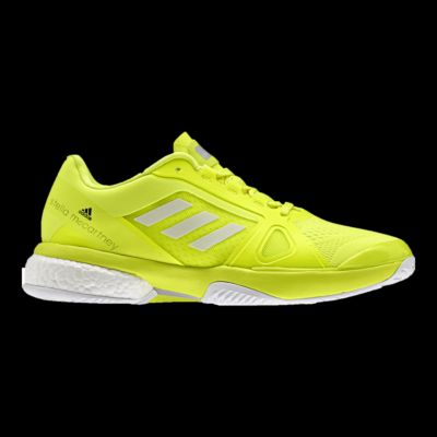 Adidas  mujer 's SMC Barricade Boost zapatos tenis amarillo / blanco