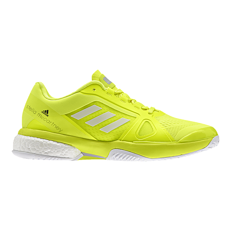 online store e597e a5700 adidas Womens SMC Barricade Boost Tennis Shoes - YellowWhite  Sport Chek