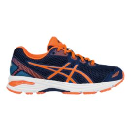 ASICS Kids' GT-1000 5 Grade School Running Shoes - Blue/Orange