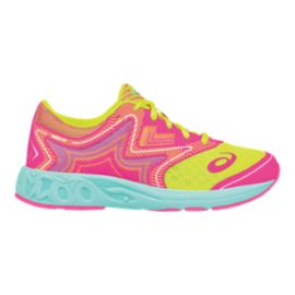 ASICS Girls' Noosa FF Grade School Running Shoes - Yellow/Pink/Aqua