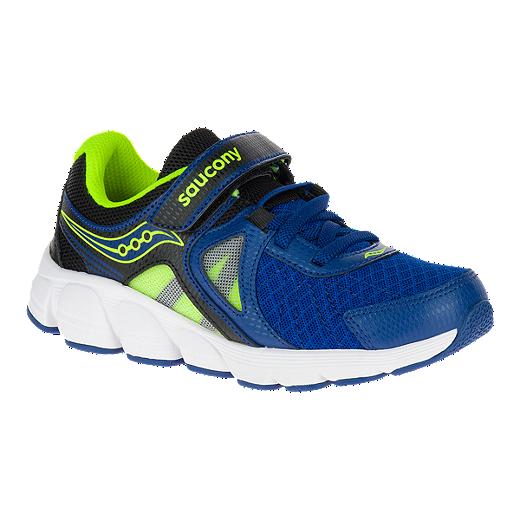 b115b944 Saucony Kids' Kotaro 3 AC Wide Width Preschool Running Shoes -  Blue/Black/Citron
