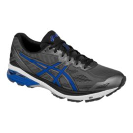 ASICS Men's GT-1000 5 2E Wide Width Running Shoes - Grey/Black/Blue