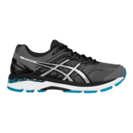 ASICS Men's GT-2000 5 4E Extra Wide Width Running Shoes - Charcoal Grey/Black/Blue