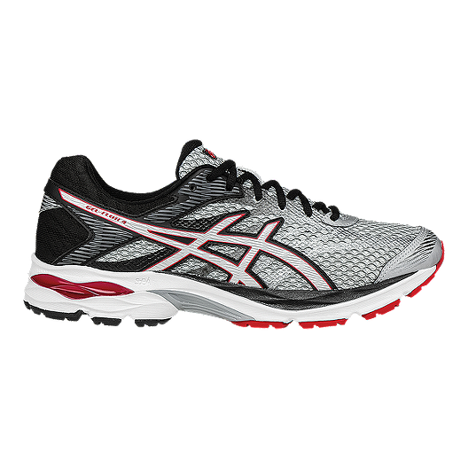 e014465d3d30d ASICS Men's Gel Flux 4 Running Shoes - Silver Grey Black Red