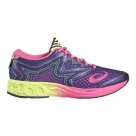 ASICS Women's Gel Noosa FF Running Shoes - Purple/Pink/Lime Green