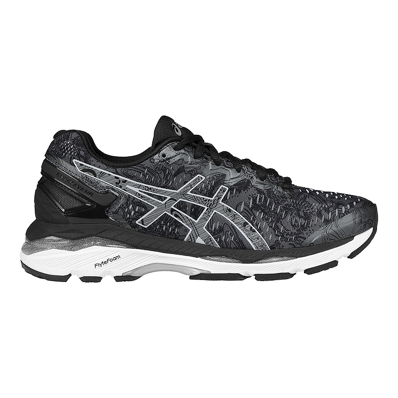 big sale 77f80 b2ff4 ASICS Women's Gel Kayano 23 LS Running Shoes - Black Pattern ...