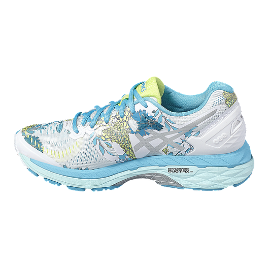 f34d655f6c ASICS Women s Gel Kayano 23 Running Shoes - White Blue Floral Pattern. (4).  View Description