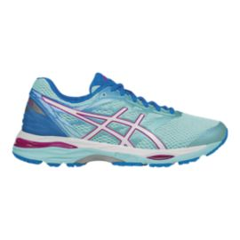 ASICS Women's Gel Cumulus 18 2A Narrow Width Running Shoes - Aqua Blue/Lavender/Blue