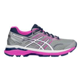 ASICS Women's GT-2000 5 2E Extra Wide Width Running Shoes - Grey/Purple