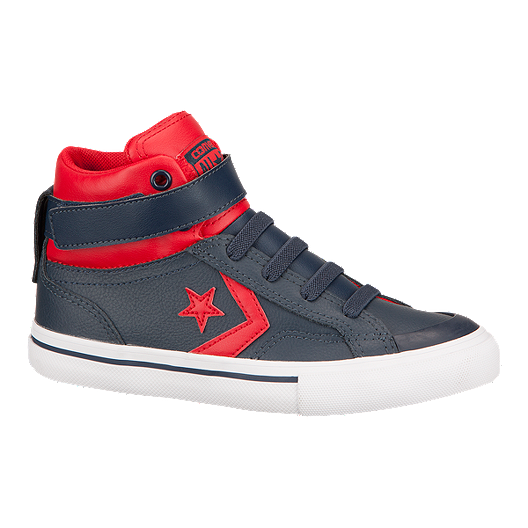 7fa12f2600b4 Converse Kids  Pro Blaze Hi Skate Shoes - Navy Red
