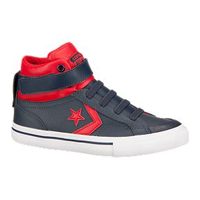 3b42318aad86 Converse Kids  Pro Blaze Hi Skate Shoes - Navy Red