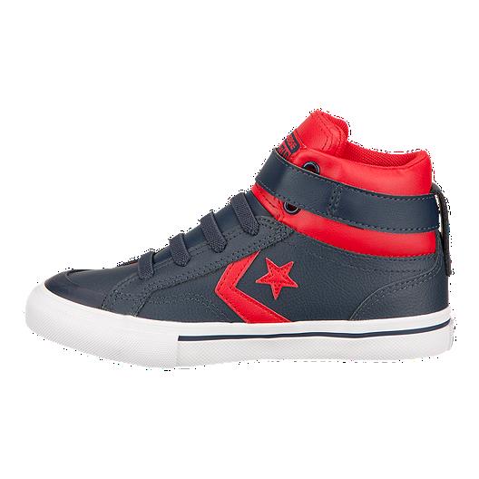551ae03691422d Converse Kids  Pro Blaze Hi Skate Shoes - Navy Red. (1). View Description