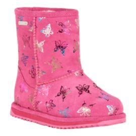 Emu Girls' Flutter Brumby Waterproof Winter Boots - Pink