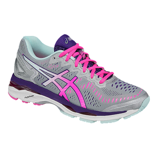 the latest 3704d 0a998 ASICS Women s Gel Kayano 23 2A Width Narrow Running Shoes -  Grey Pink Purple   Sport Chek
