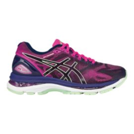 ASICS Women's Gel Nimbus 19 Running Shoes - Pink/Purple/Navy