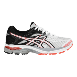 ASICS Women s Gel Flux 4 Running Shoes - White Black Coral Orange ... 1dcec79087652