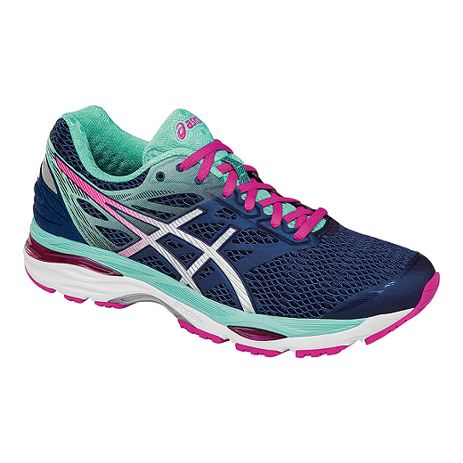 official photos d7d7e f6292 ASICS Women's Gel Cumulus 18 Running Shoes - Indigo Blue/Light Blue/Pink