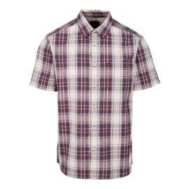 Quiksilver Men's Locked Down Short Sleeve Woven Shirt - Port Royale Red